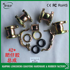 China OEM 42mm Stainless Steel Rubber Hose Clamp Pipe Assy For Excavator supplier