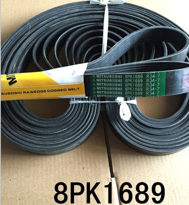 China Hitachi 8PK1689 Power Transmission Belts , Industrial V Belts For MITSUBOSHI factory