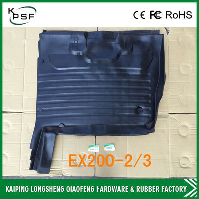 China E200B Black All Weather Floor Mats Anti - Vibration For Excavator Cabs distributor