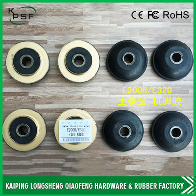 China Professional Caterpillar Engine Mounts , E200B Front Daewoo Rubber Engine Mounts distributor